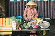 Baskets Photo Originals - Sai Gon street vendor by Duy Black
