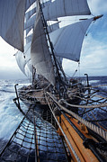 Sail Photos Prints - Sailing boats Kruzenshtern Print by Anonymous
