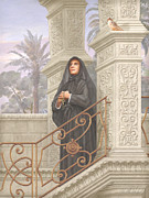 Guardian Angel Painting Posters - Saint Frances Xavier Cabrini Poster by John Alan  Warford