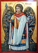 Egg Tempera Art - Saint Michael by Filip Mihail