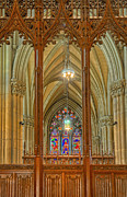 Woodcarving Posters - Saint Patricks Cathedral Poster by Dave Mills