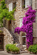 French Home Framed Prints - Saint Paul de Vence Framed Print by Brian Jannsen
