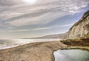 Shingle Beach Prints - Samphire Hoe beach Print by Ian Hufton