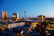 Tower Of The Americas Photos - San Antonio skyline by Jo Ann Snover