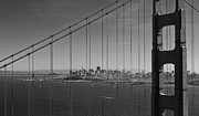 Sausalito Framed Prints - San Francisco through Golden Gate Bridge Framed Print by Twenty Two North Photography
