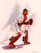 All-star Painting Prints - Sandy Alomar Print by Dick Bobnick