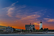 New England Lighthouse Framed Prints - Sandy Neck Lighthouse Framed Print by Susan Candelario