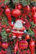 Christmas Tree Photos - Santa Claus balloon by George Atsametakis
