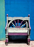 Empty Chairs Prints - Santa Fe Chair Print by Elena Nosyreva