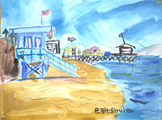 Santa Monica Paintings - Santa Monica Pier 2 by Ethan Altshuler