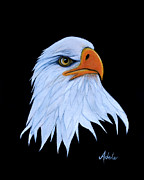 American Bald Eagle Painting Prints - Sarah Print by Adele Moscaritolo