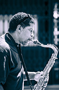 Sax Photos - Saxophone Player by Carolyn Marshall