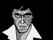 Al Pacino Digital Art Framed Prints - Scarface Framed Print by Glenn Cotler