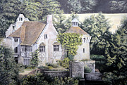 Historic Pastels Prints - Scotney Castle Print by Rosemary Colyer