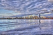 Alki Beach Framed Prints - Seattle skyline Cityscape Framed Print by SC Heffner