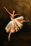 Impressionistic Oil Paintings - Second Arabesque by Nancy Bradley