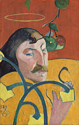 Self Portrait Framed Prints - Self Portrait Framed Print by Paul Gauguin