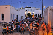 Town Art - Serifos island during dusk time by George Atsametakis