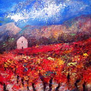 Provence Paintings - Shades of Autumn by K McCoy