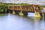 Shelton Framed Prints - Shelton Derby Railroad Bridge Framed Print by Fran Gallogly