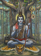 Kashinath Paintings - Shiva by Vrindavan Das