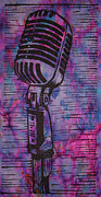 Linocut Posters - Shure 55s Poster by William Cauthern