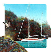 Sailing Ships Originals - Silent Anchorage by David  Chapple