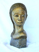 Portrait Sculpture Sculpture Prints - Silent Mind Print by Wayne Niemi