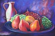 Grapes Paintings - Simple Abundance by Eve  Wheeler