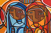Motivation Painting Prints - Sisters Print by Mary Tere Perez