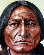 Sioux Prints - Sitting Bull Print by Stu Braks