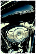 Harley Davidson Photos - Sleek Black Harley by David Patterson