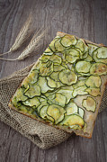 Sliced Prints - Sliced pizza with zucchini Print by Sabino Parente