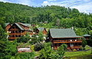Log Cabins Prints - Smoky Mountain Cabins Print by Robert Harmon