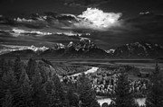 Black And White Nature Landscapes Posters - Snake River Overlook Poster by Andrew Soundarajan
