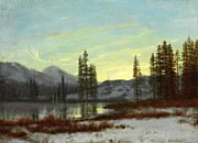 Famous Artists - Snow in the Rockies by Albert Bierstadt