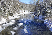 Thomas R Fletcher - Snow on Gauley River