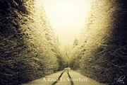 Winter Roads Prints - Snowhere Print by Deena Otterstetter