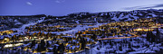 Ski Village Framed Prints - Snowmass Village Panoramic Framed Print by Tom Cuccio