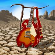 Surrealism Digital Art Metal Prints - Soft Guitar II Metal Print by Mike McGlothlen