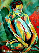 Nudes Painting Originals - Solace by Helena Wierzbicki