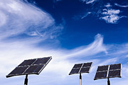 Co2 Framed Prints - Solar Energy Panels - Blue Sky Framed Print by Colin Utz