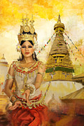 Thailand Paintings - South East Asian Art by Corporate Art Task Force