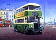 Bus Paintings - Southdown Leyland. by Mike  Jeffries