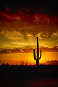 Southwestern Style Sunset  Print by Saija  Lehtonen