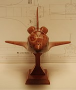 Space Ships Sculptures - Space Shuttle Discovery by Kevin Schrader