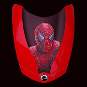 Spider Posters - Spider-Man on Spyder Poster by Paul  Meijering