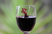 Merlot Prints - Spill the wine Print by Damian Morphou