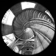 Architektur Metal Prints - Spiral Staircase Metal Print by Falko Follert