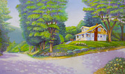 House Pastels - Spirit Lake House by Bruce MacBride